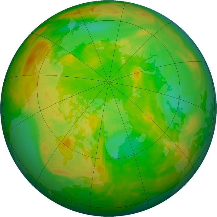 Arctic ozone map for 25 June 1981